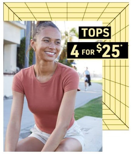 4 for $25 Tops from Tillys