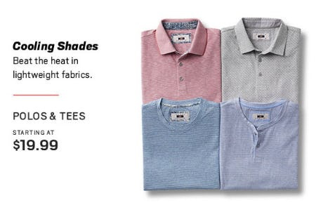 Polos & Tees Starting at $19.99 from Men's Wearhouse