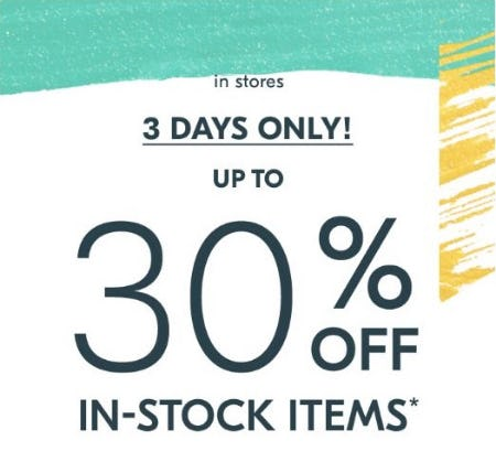 Up to 30% Off In-Stock Items from West Elm