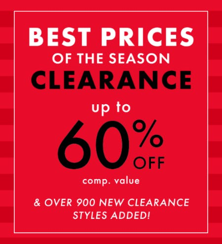 Clearance: Up to 60% Off on Comp. Value from DSW Shoes