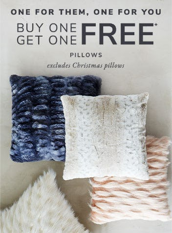 BOGO Free Pillows from Pier 1 Imports