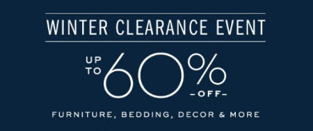 Winter Clearance Event: Up to 60% Off from Pottery Barn
