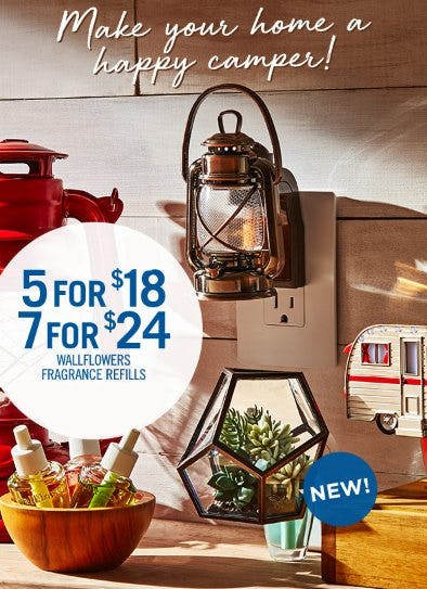 5 for $18 or 7 for $24 Wallflowers Fragrance Refills