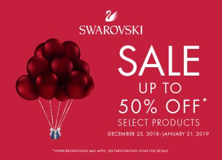 Winter Sale Up to 50% Off from Swarovski
