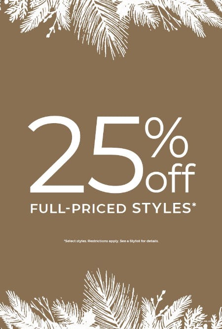 25% off Full-Priced Styles* from Chico's