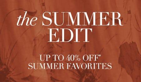 Up to 40% Off Summer Favorites