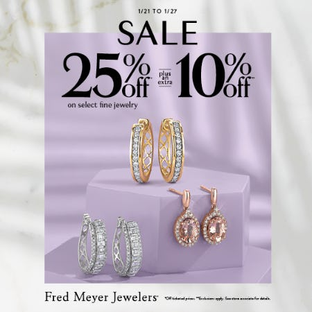 January 7 Day Sale from Fred Meyer Jewelers