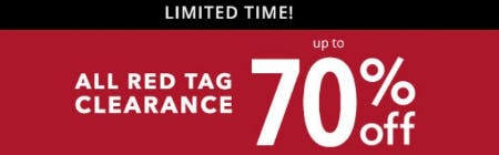 All Red Tag Clearance up to 70% Off