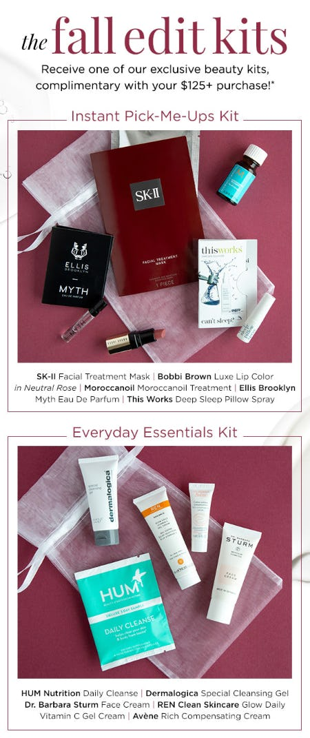 Complimentary Fall Edit Kits with Your $125+ Purchase from Blue Mercury