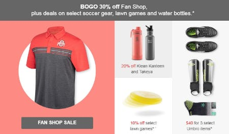 BOGO 30% Off Fan Shop Sale