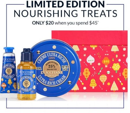 Limited Edition Nourishing Treats Only $20 When You Spend $45 from L'Occitane