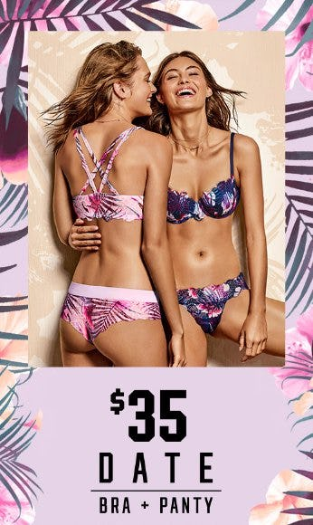 $35 PINK Date Bra & Panty
