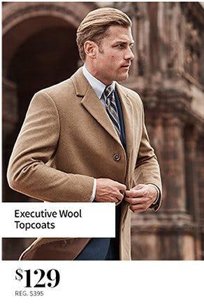 Executive Wool Topcoats $129 from Jos. A. Bank