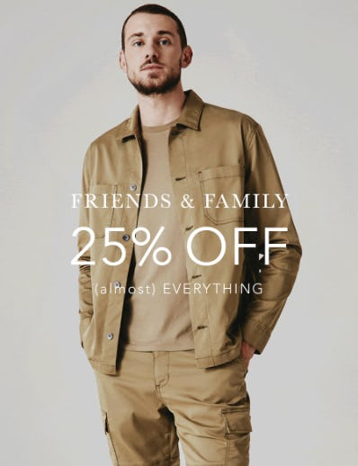 Friends & Family: 25% Off on Almost Everything from AG Jeans