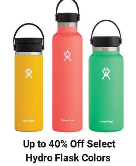 Up to 40% Off Select Hydro Flask Colors