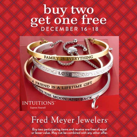 Buy 2 Get 1 Free from Fred Meyer Jewelers