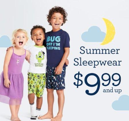 Summer Sleepwear $9.99 & Up