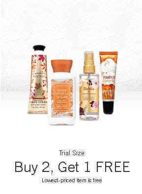 Trial Size Buy 2, Get 1 Free from Bath & Body Works/White Barn