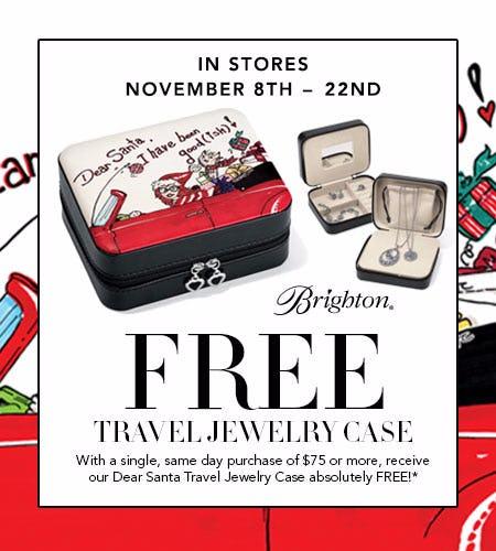 FREE Brighton Travel Jewelry Case