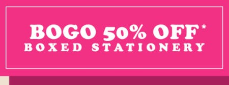 BOGO 50% Off Boxed Stationery from PAPYRUS