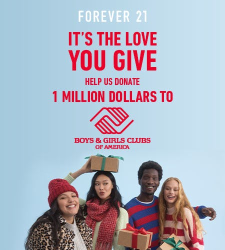 F21xBGCA It's The Love You Give Holiday 2020 from Forever 21