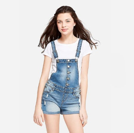 Button Up Shortalls from Justice