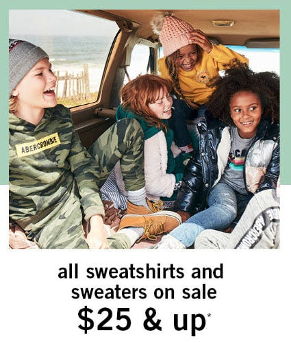 $25 & Up Sweatshirts and Sweaters from abercrombie