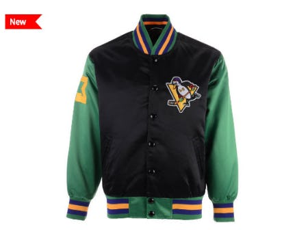 The Mighty Ducks Satin Jacket from Lids