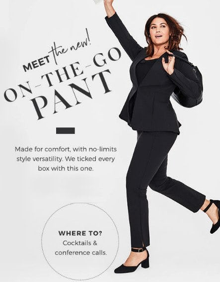 Meet the New On-the-Go Pant from Lane Bryant
