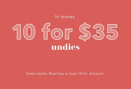 10 for $35 Undies from Aerie