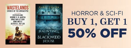 B1G1 50% Off Horror & Sci - Fi from Books-A-Million