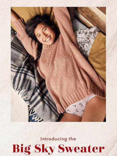 Introducing The Big Sky Sweater from Aerie