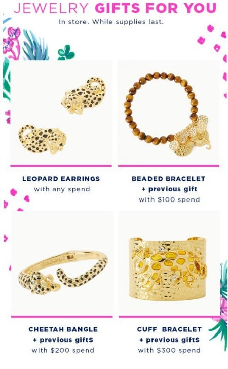 Jewelry Gifts with your Purchase from Lilly Pulitzer