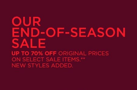 End-of-Season Sale: Up to 70% Off from Eileen Fisher
