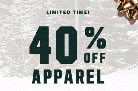 40% Off Apparel