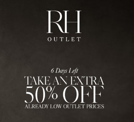 Take an Extra 50% Off Already Low Outlet Prices
