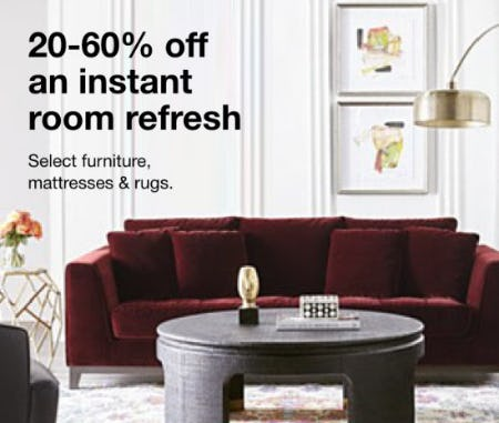 20-60% Off Select Furniture, Mattresses & Rugs