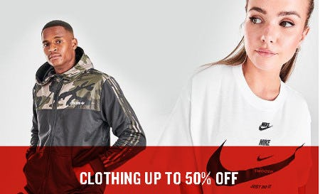 Clothing up to 50% Off from Finish Line