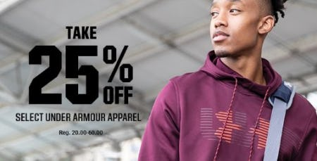 Take 25% Off Select Under Armour Apparel from Dick's Sporting Goods