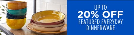 Up to 20% Off Featured Everyday Dinnerware from Sears