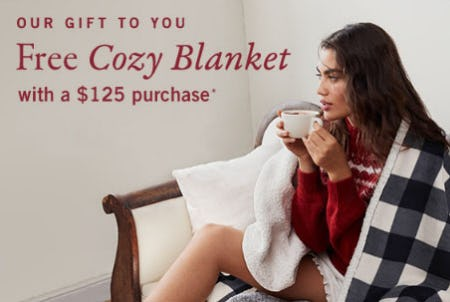 Free Cozy Blanket with $125 Purchase from Abercrombie & Fitch