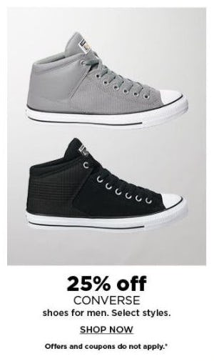 25% Off CONVERSE Sneakers for Men from Kohl's