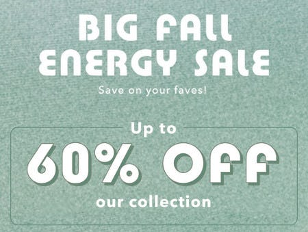 Up to 60% Off Our Collection