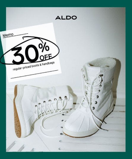 30% Off Regular-Priced Boots & Handbags from ALDO