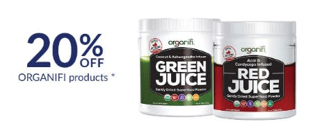 20% Off Organifi Products from The Vitamin Shoppe