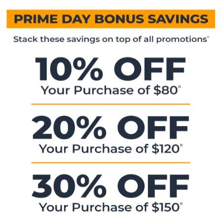 Prime Day Bonus Savings