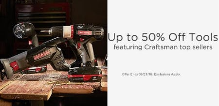 Up to 50% Off Tools from Sears