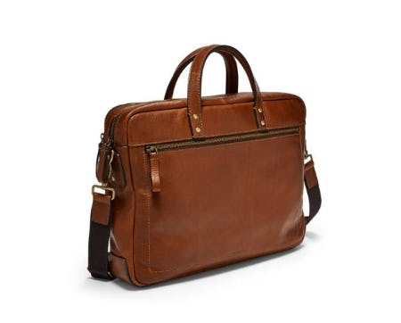 Haskell Double Zip Briefcase from Fossil