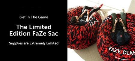 The Limited Edition Faze Sac from Lovesac