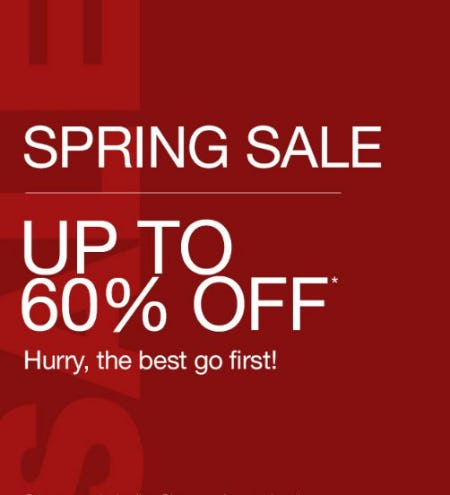 Spring Sale up to 60% Off from Gap